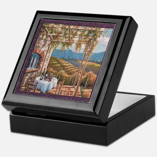 Tuscan Vineyard Keepsake Box