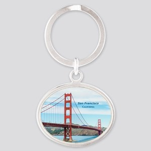 San Francisco Oval Keychain