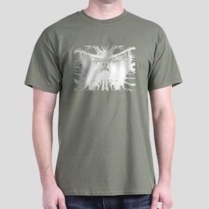 White butterfly Fractal Dark T-Shirt