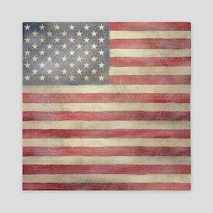 USA Vintage Flag Queen Duvet