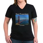 San Francisco Women's V-Neck Dark T-Shirt