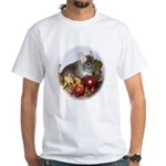 Chinchilla in Fall White T-Shirt