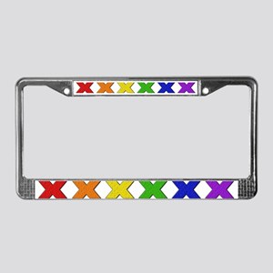Gay X License Plate Frame