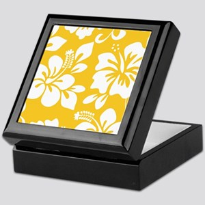 Yellow Hawaiian Hibiscus Keepsake Box