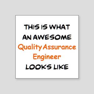 """awesome quality assurance e Square Sticker 3"""" x 3"""""""