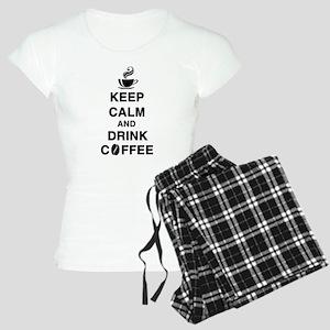 keep calm and drink coffee Pajamas