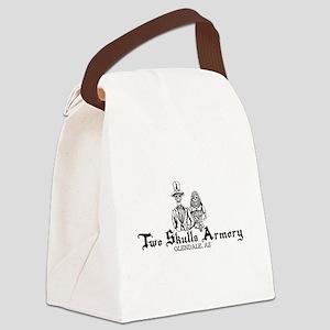 Two Skulls Logo Canvas Lunch Bag