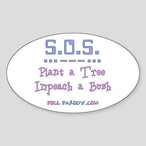 Plant Tree - Impeach Bush Oval Sticker