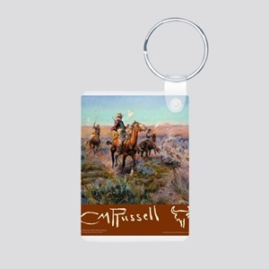Charles M Russell Cowboys Keychains