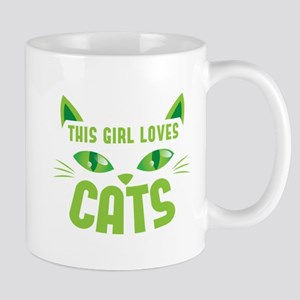This girl loves CATS Mugs