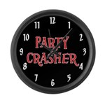 Party Crasher Large Wall Clock