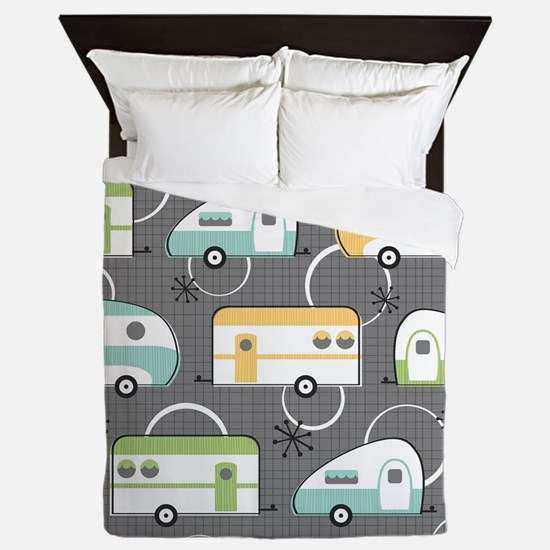 Unique Happy camper Queen Duvet