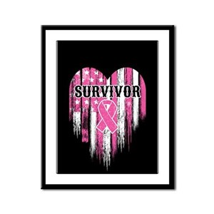 Breast Cancer Survivor Framed Panel Print