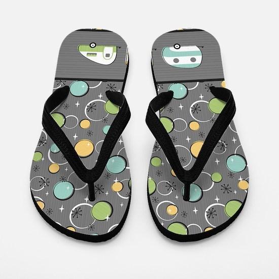 Happy camper t Flip Flops