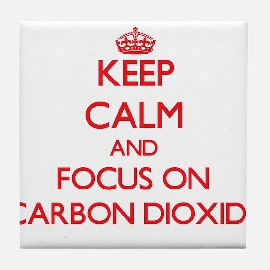 Cute Carbon dioxide Tile Coaster
