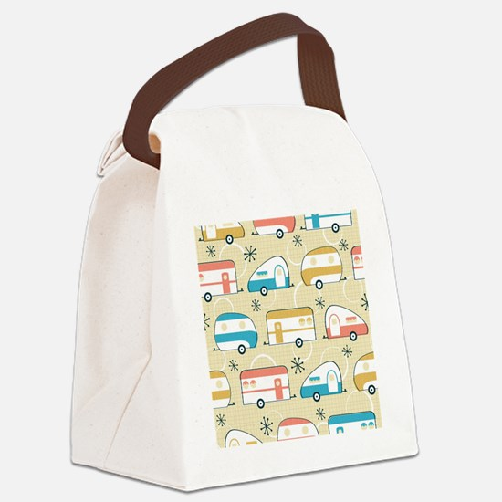 Funny Happy campers Canvas Lunch Bag