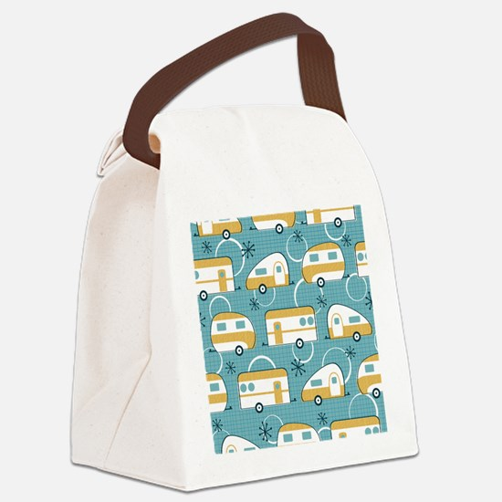 Cool Happy campers Canvas Lunch Bag
