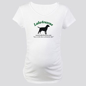 Labs4Rescue White Maternity T-Shirt