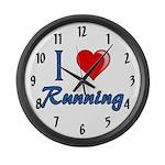 I Heart Running Large Wall Clock