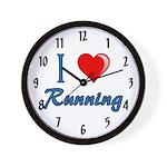 I Heart Running Wall Clock