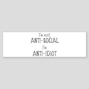 Anti-Idiot Bumper Sticker