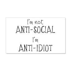 Anti-Idiot Wall Sticker