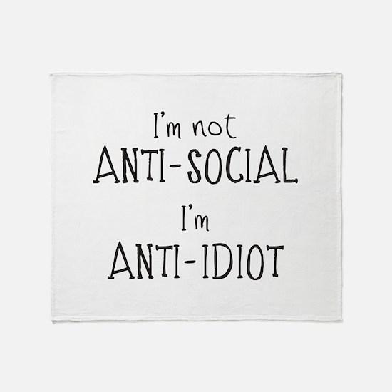 Anti-Idiot Throw Blanket