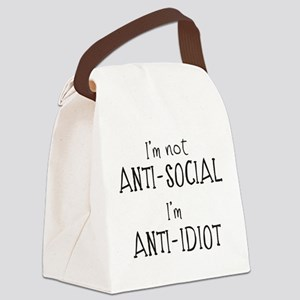 Anti-Idiot Canvas Lunch Bag