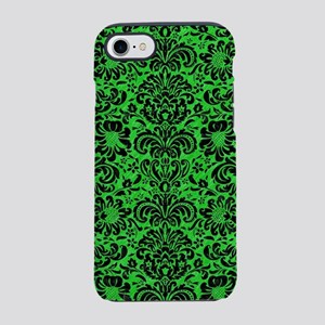 DAMASK2 BLACK MARBLE & GREEN C iPhone 7 Tough Case