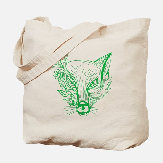 Unique Fox head Tote Bag