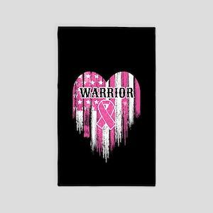 Breast Cancer Warrior Area Rug