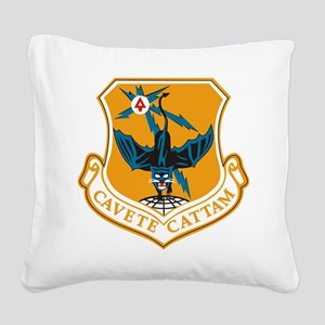 553rd Recon Wing Square Canvas Pillow