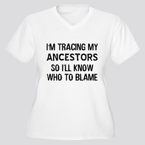 Funny Genealogy Women's Plus Size V-Neck T-Shirt