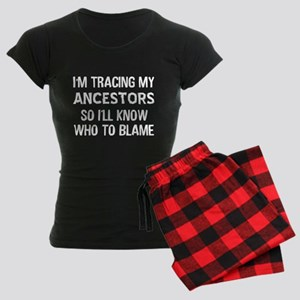 Funny Genealogy Women's Dark Pajamas