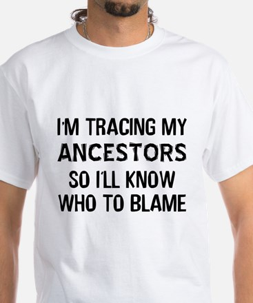 Funny Genealogy White T-Shirt