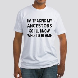 Funny Genealogy Fitted T-Shirt