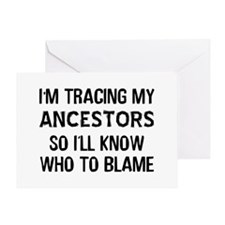 Funny Genealogy Greeting Card