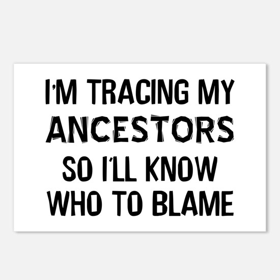 Funny Genealogy Postcards (Package of 8)
