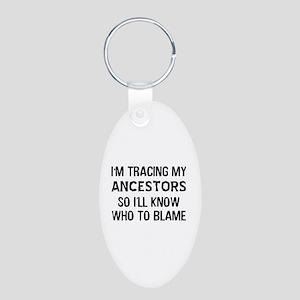 Funny Genealogy Aluminum Oval Keychain
