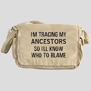 Funny Genealogy Messenger Bag
