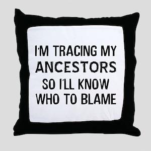 Funny Genealogy Throw Pillow