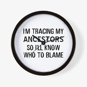 Funny Genealogy Wall Clock
