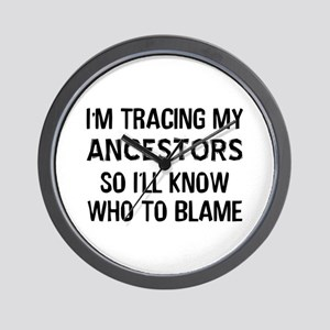 Funny Genealogy Wall Clock