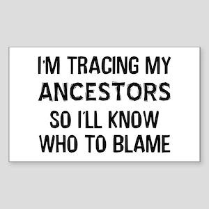 Funny Genealogy Sticker (Rectangle)