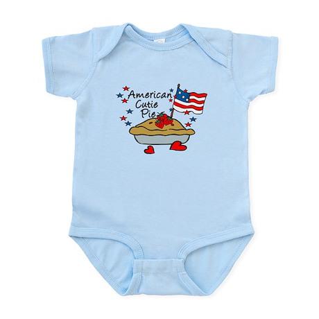 American Cutie Pie Patriotic Baby bodysuits