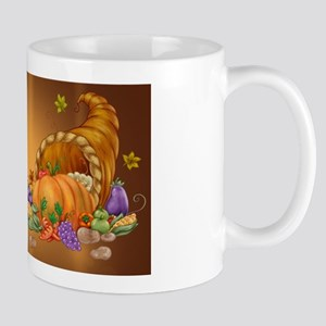 Thanksgiving Cornucupia Fruit And Veg Cartoon Mugs