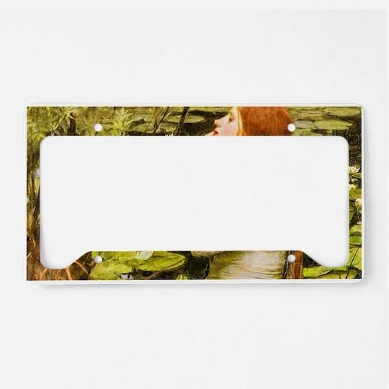 Waterhouse: Ophelia (1894) License Plate Holder