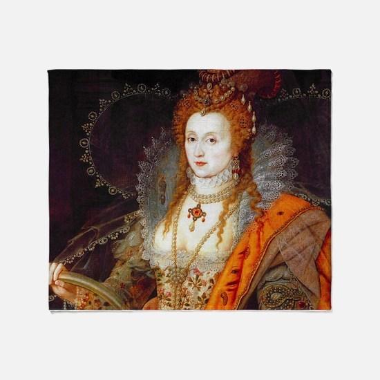 Queen Elizabeth I Throw Blanket