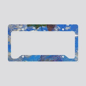 Monet - Woman with a Parasol License Plate Holder