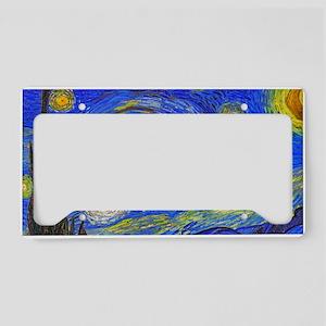 van Gogh: The Starry Night License Plate Holder